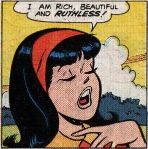 Hell, I invented an entire fantasy as a kid that Veronica Lodge was actually Chinese-American because of two pieces of evidence alone: 1) she had Black hair, and 2) there's a panel in a story somewhere where her dad is using chopsticks to eat some food. And Veronica Lodge is about as WASP-y as they come.