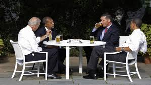 And problems of racial tension can be solved with beer summits.