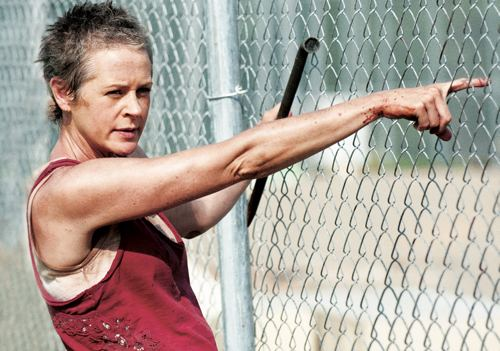 That's right. Spikey-haired Jamie Lee Curtis-look-alike Carol is a murderer.