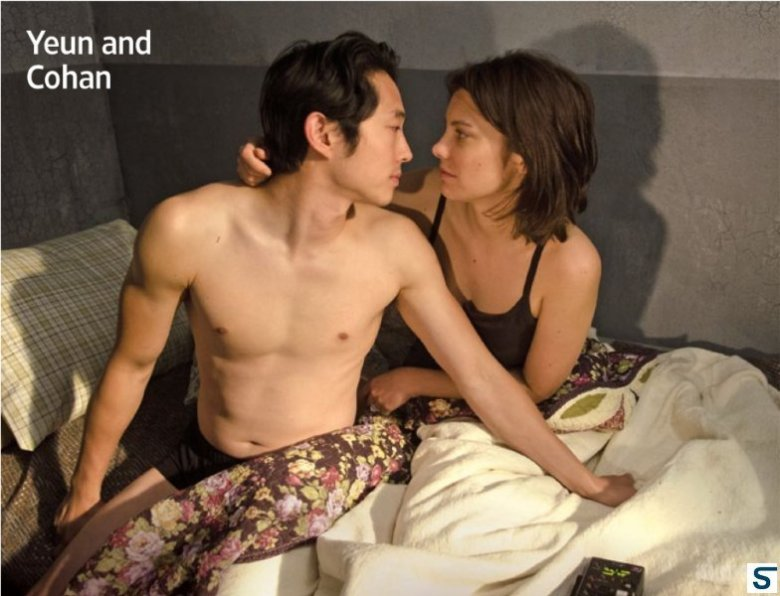 Those keeping track will note that again Steve Yeun -- like many Asian men on television -- manifests his chronic allergy to shirts.