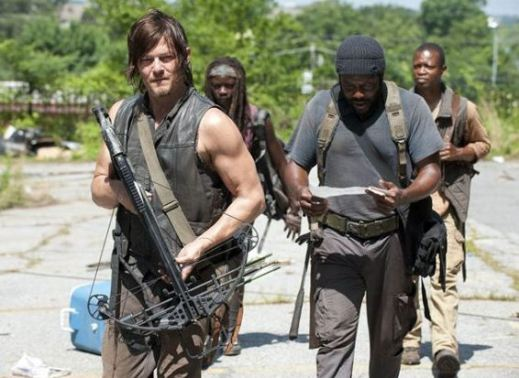 Tyreese angrily read a map.