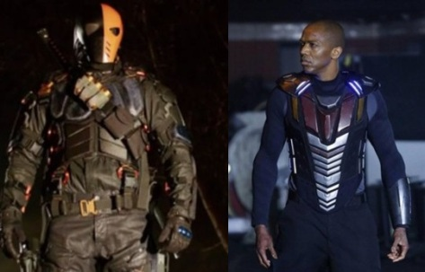 Both of these villains' costumes were created on television budgets. Just sayin'.