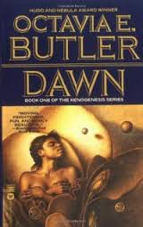 Photo of a book cover of Octavia E. Butler's novel, Dawn.