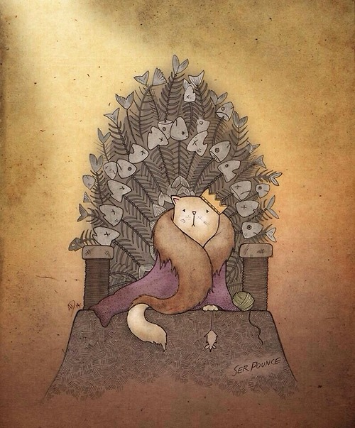 My bet for the Iron Throne? Ser Pounce the cat.