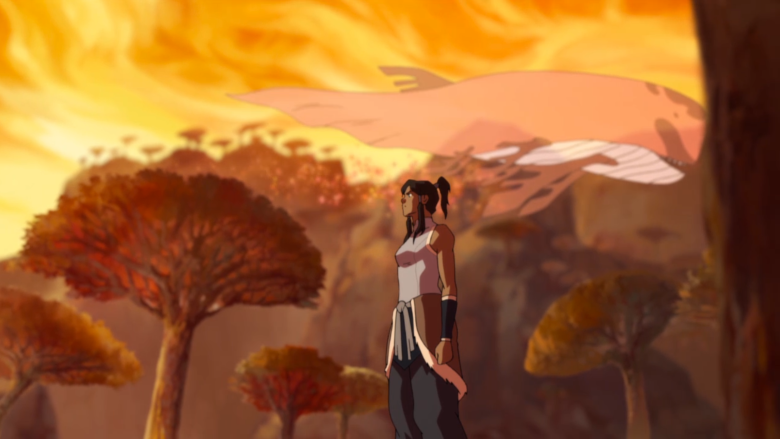 Korra and whale spirit