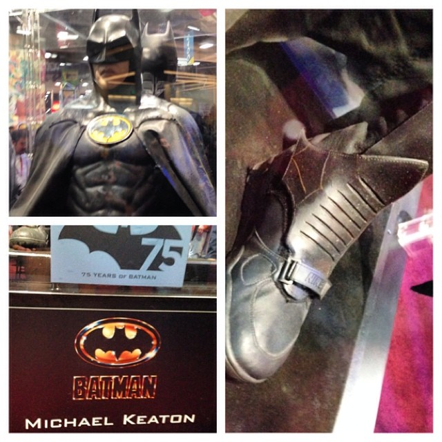 Did you know Batman '89 wore Nikes? DC's Batman 75 display is pretty awesome.