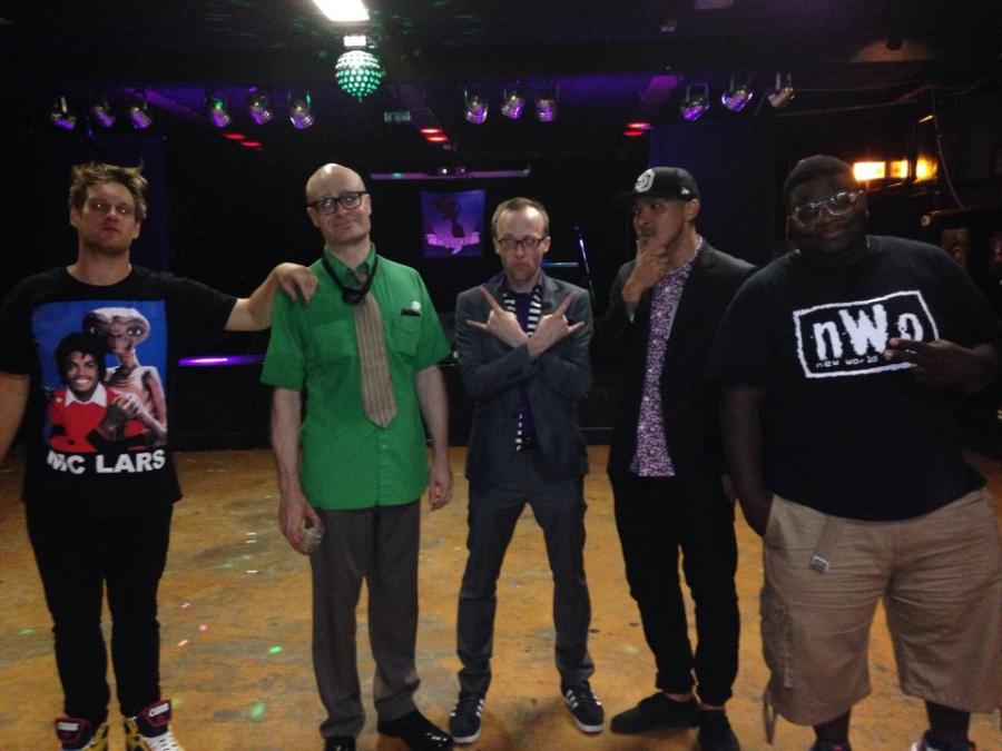 Post show, tired rappers.