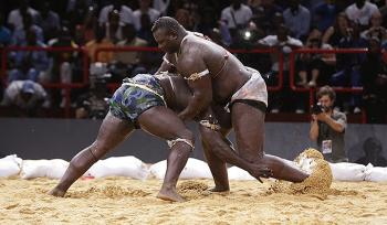 There are the Lutte fighters in Senegal...