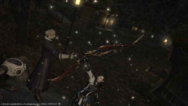 My latest accomplishment in my FFXIV career: acquiring the legendary Yoichi Bow!)