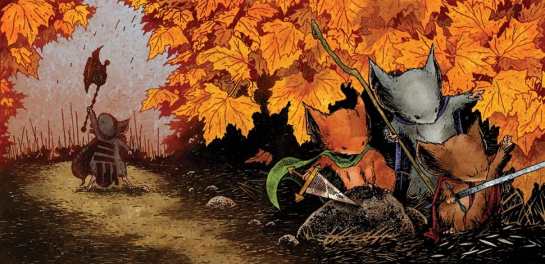 Mouse Guard is a long-time favorite for tons of people. Great art and storytelling.