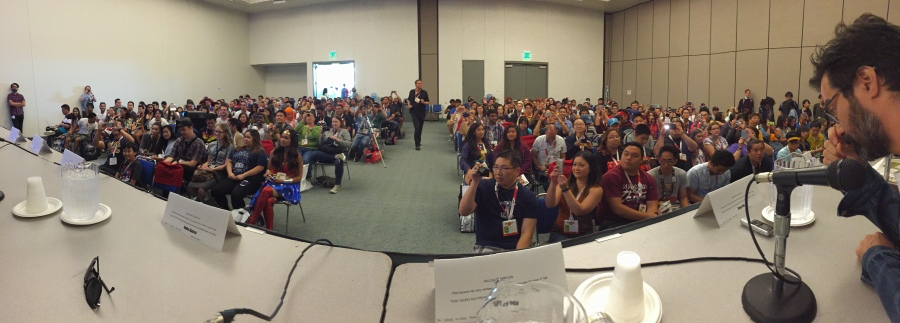 Humbled by all the people who showed up -- or were turned away -- from our panel.