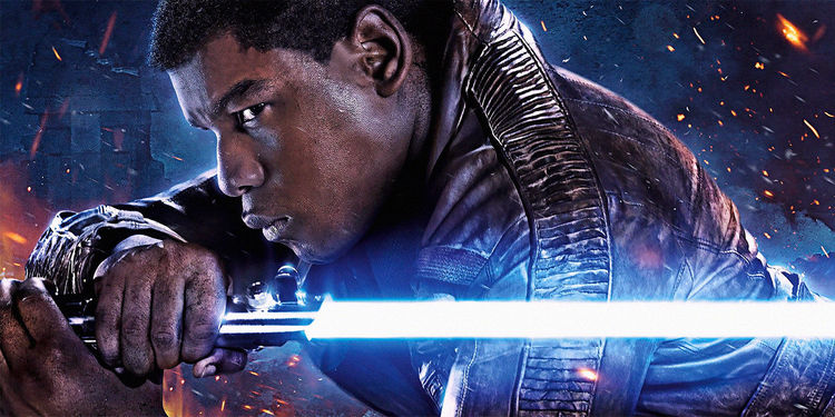 John Boyega's Finn in Star Wars: The Force Awakens