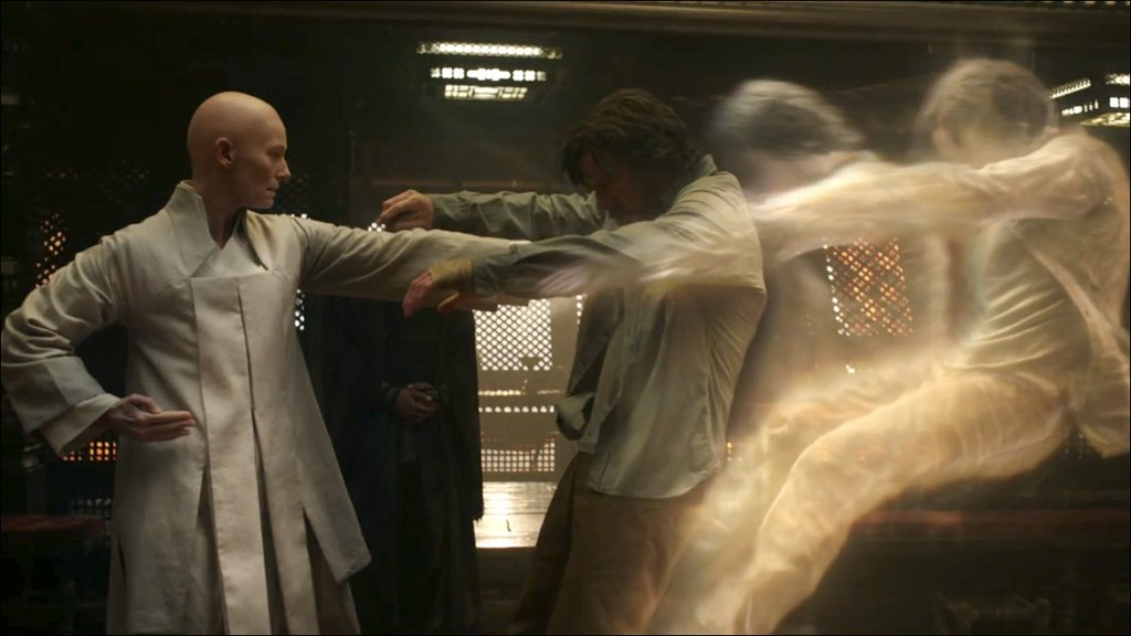 tilda swinton teaches doctor strange the mystical asian