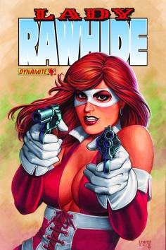 Lady Rawhide owned by Dynamite Comics, cover by Joseph Michael Linsner