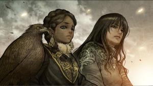 Tuyu and Maika in Monstress | Written by Marjorie Liu, Art by Sana Takeda
