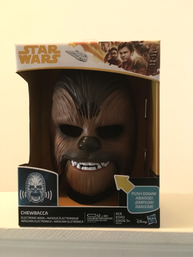 Electronic Chewbacca mask from Hasbro