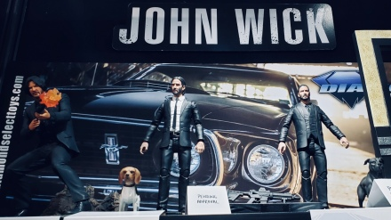 Several versions of John Wick: apparently each one comes with both a large gun and a dog.