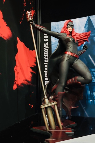 Batwoman, the first openly gay Bat-Person, lurking in a cool corner of the DST booth.