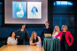 "Toy Story 4 ""Bo Is Back"" Presenters (L-R) Patty Kihm (Directing Animator), Mara MacMahon (Characters Modeling Artist), Tanja Krampfert, Becki Tower (Directing Animator), Carrie Hobson (Story Artist), Valerie LaPointe (Story Supervisor) on April 3. Photo by Marc Flores. ©2019 Disney/Pixar. All Rights Reserved."