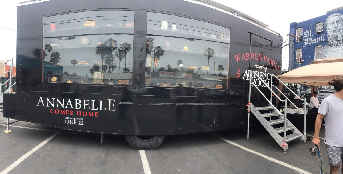 """Photos from the """"Annabelle Comes Home"""" Artifact Tour Truck"""