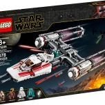 "LEGO® Star Wars™ 75249 – Resistance Y-Wing Starfighter™ - $69.99 Collect an updated LEGO® Star Wars™ Y-Wing! Load up for a bombing run with the Resistance Y-Wing Starfighter from Star Wars: The Rise of Skywalker! Fly in under the radar and pull the trigger to help Zorii Bliss release the bombs. Send the First Order Snowtrooper scrambling for cover and then rescue Poe Dameron, D-O and the Astromech Droid. With this Y-wing, LEGO® Star Wars™ action is never far away! Includes 5 LEGO® Star Wars™ characters: Poe Dameron, Zorii Bliss and First Order Snowtrooper minifigures, and D-O and astromech droid LEGO figures. Star Wars™ Resistance Y-Wing Starfighter, a.k.a. wishbone, features an opening minifigure cockpit, folding landing gear, 2 spring-loaded shooters and top-loaded bombs with trigger-activated release. Weapons include Poe's blaster pistol, Zorii's 2 blaster pistols and the First Order Snowtrooper's blaster. The Y-Wing's color scheme and Zorii's molded helmet are new for October 2019. Recreate exciting moments from the Star Wars: The Rise of Skywalker movie. This starship makes a great birthday gift, Christmas present or just a fun Star Wars™ gift for any occasion. Star Wars™ building set measures over 2"" (7cm) high, 16"" (43cm) long and 7"" (19cm) wide. Available October 4"