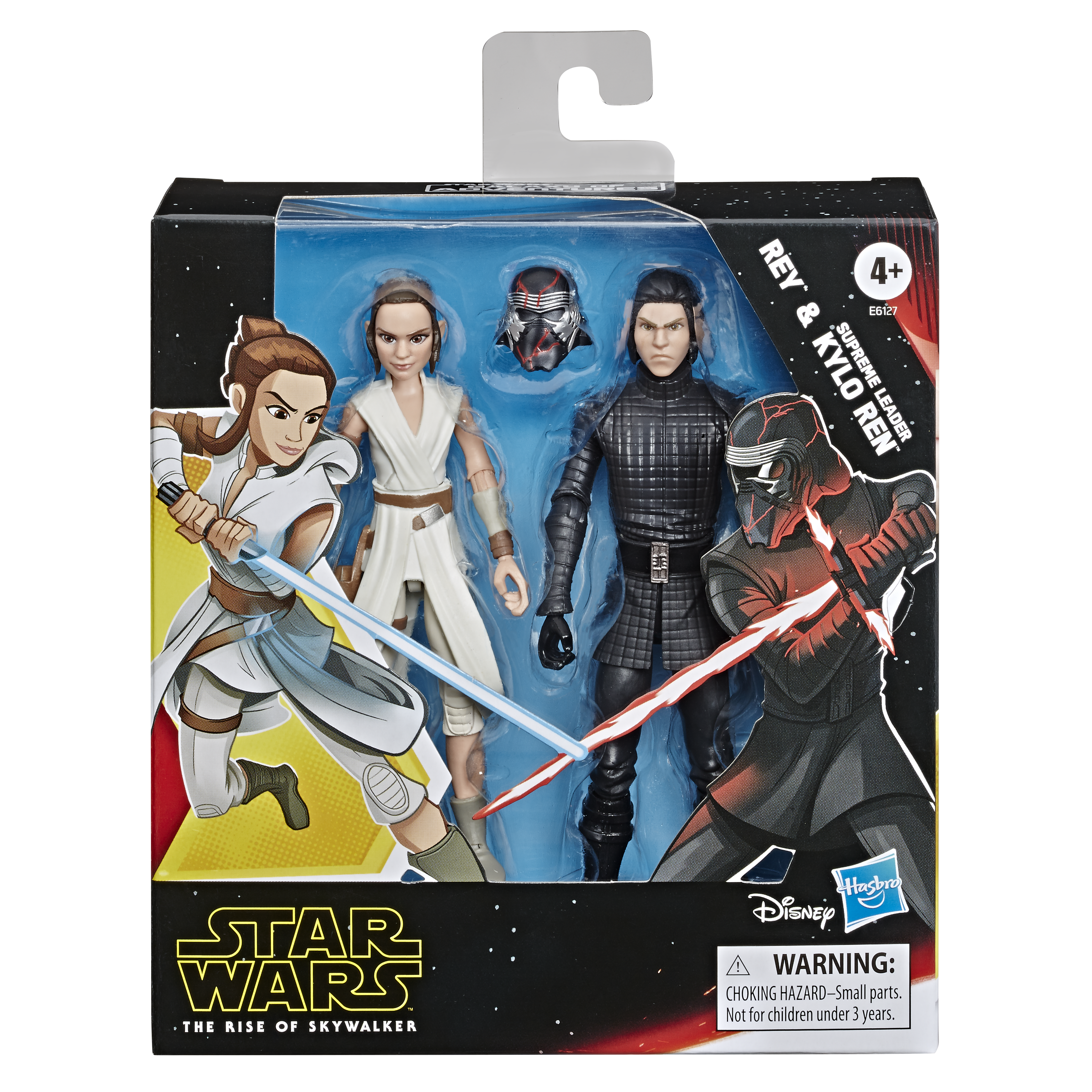 """Star Wars The Force Awakens REY Resistance Outfit /& HAN SOLO 3.75/"""" inch Old"""