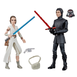 STAR WARS GALAXY OF ADVENTURES 5-INCH REY AND SUPREME LEADER KYLO REN 2-PACK (HASBRO/Ages 4 years & up/Approx. Retail Price: Starting at $19.99/Available: Fall 2019) Trained in the way of the Jedi Knights by Jedi Master LUKE SKYWALKER, REY hopes to control her growing powers as she tries to help the Resistance defeat the First Order. Taking over as Supreme Leader of the First Order, KYLO REN serves the dark side of the Force even as he continues to struggle against the pull of the light side. This STAR WARS GALAXY OF ADVENTURES 5-INCH REY AND SUPREME LEADER KYLO REN 2-PACK features iconic STAR WARS characters REY and SUPREME LEADER KYLO REN from STAR WARS: THE RISE OF SKYWALKER. Includes 2 figures and 5 accessories. Available at most major retailers.