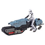 STAR WARS GALAXY OF ADVENTURES FIRST ORDER DRIVER AND TREADSPEEDER (HASBRO/Ages 4 years & up/Approx. Retail Price: $24.99/Available: Fall 2019) FIRST ORDER TREADSPEEDERS are rugged, shielded patrol bikes with a design that grants greater traction on unstable terrain and can avoid countermeasures that jam traditional speeders. Specialized STORMTROOPERS of the FIRST ORDER, these armored soldiers operate the rugged TREADSPEEDERS in combat and pursuit operations. This 5-inch scale FIRST ORDER STORMTROOPER figure features multiple points of articulation, and design and detail inspired by STAR WARS entertainment. The STAR WARS GALAXY OF ADVENTURES FIRST ORDER DRIVER AND TREADSPEEDER features a launching projectile and exciting crash effects, both of which kids can activate with the push of a button. Includes figure, vehicle, 1 projectile, and 1 accessory. Available at most major retailers.