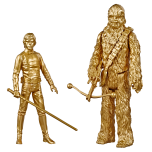 STAR WARS SKYWALKER SAGA 3.75-INCH Figure 2-Packs (HASBRO/Ages 4 years & up/Approx. Retail Price: Starting at $14.99/Available: Fall 2019) Kids and collectors alike can imagine the biggest battles and missions in the STAR WARS Galaxy with figures from the STAR WARS SKYWALKER SAGA collection! Commemorating the STAR WARS SKYWALKER SAGA, this series of figures includes iconic characters from the full SKYWALKER SAGA in action figure 2-packs, including HAN SOLO & LEIA, LUKE SKYWALKER & CHEWBACCA, and more! Each figure has been treated with a gold finish to stand out in any STAR WARS fan's collection! Each 2-pack sold separately. Available at Walmart.