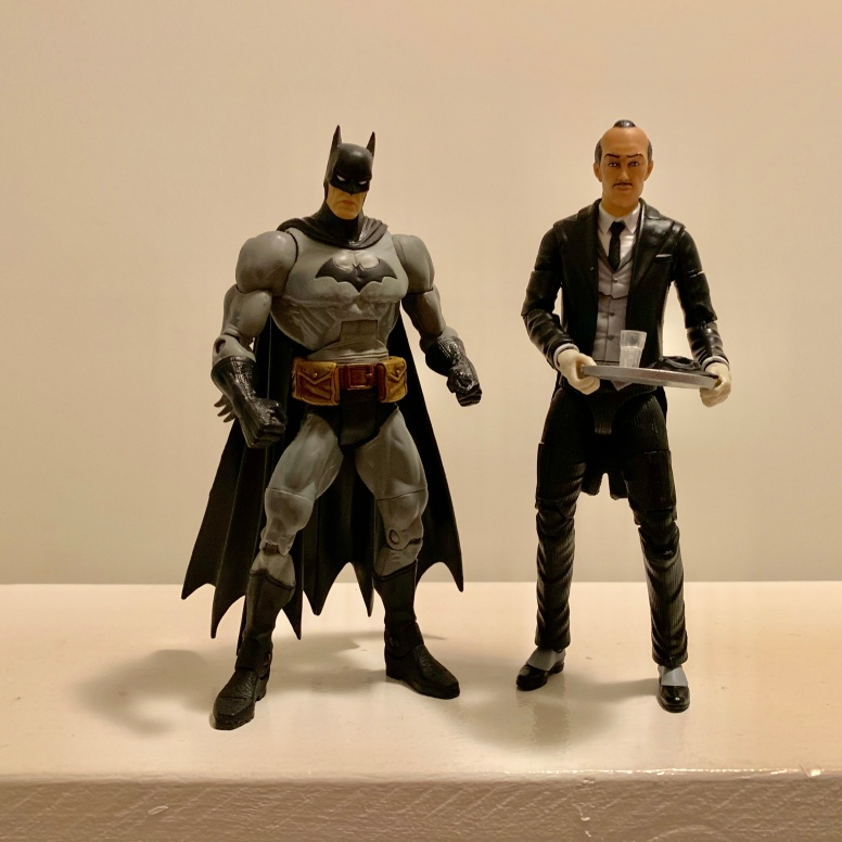 Alfred with a DC Super Heroes Batman